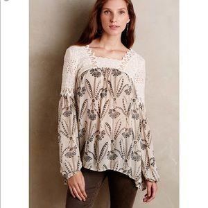 Anthropologie Floreat Cantana Lace Top Size 4